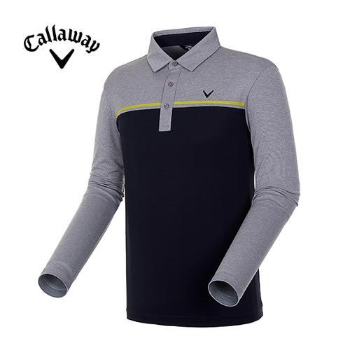 [캘러웨이]18FW 남성 컬러 블록 긴팔 티셔츠 CMTYH3105-193