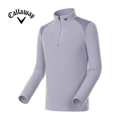 [캘러웨이]남성 솔리드 플리스 반집업 티셔츠 CMTHE4101-196