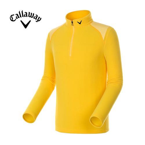 [캘러웨이]남성 솔리드 플리스 반집업 티셔츠 CMTHE4101-203