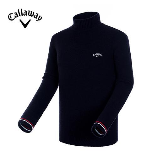 [캘러웨이]18FW 남성 컬러 배색 폴라 스웨터 CMSHH4201-925