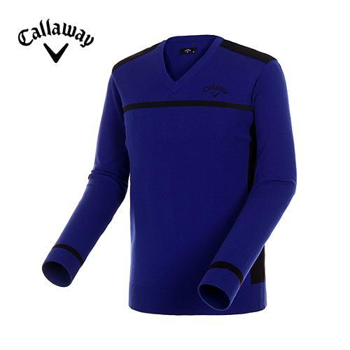 [캘러웨이]남성 배색 라인 브이넥 스웨터 CMSRD3202-907