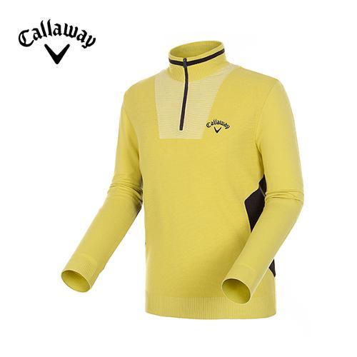 [캘러웨이]남성 컬러 배색 반집업 스웨터 CMSHD3204-204
