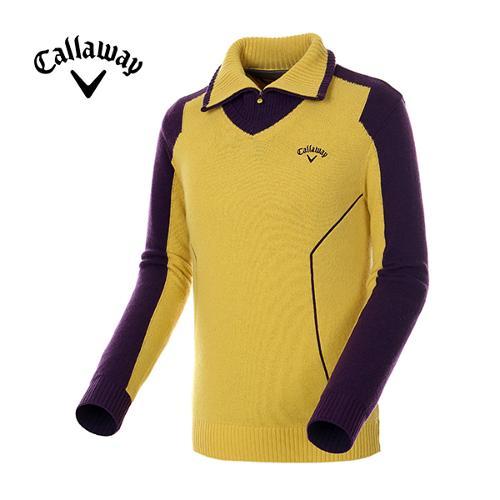 [캘러웨이]남성 컬러 블러킹 터틀넥 방풍 스웨터 CMSHE4201-203