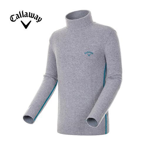 [캘러웨이]남성 배색 라인 테이프 터틀넥 스웨터 CMSHE4241-190