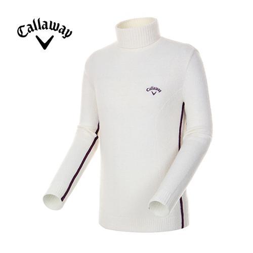 [캘러웨이]남성 배색 라인 테이프 터틀넥 스웨터 CMSHE4241-102