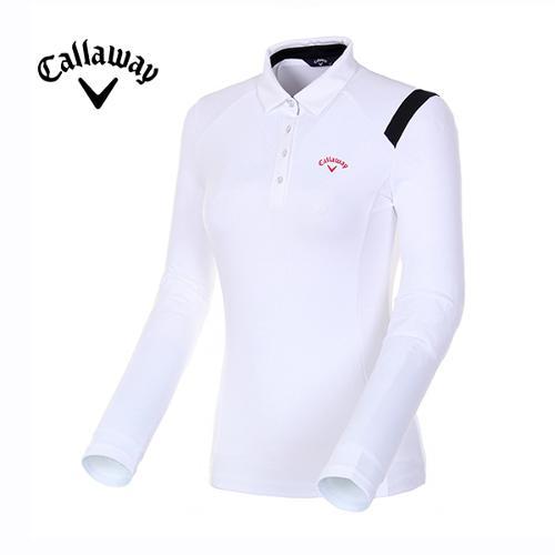 [캘러웨이]18FW 여성 컨트라스트 라인 티셔츠 CWTYH7154-100