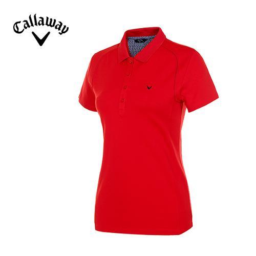 [캘러웨이]여성 스티치 배색 스포티 티셔츠 CWTPE7101-500