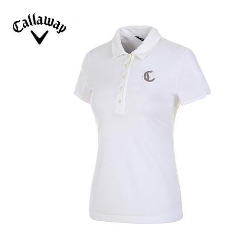 [캘러웨이]여성 컬러 스티치 코튼 피케 티셔츠 CWTYD7101-101