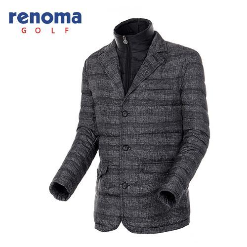 [레노마골프]남성 체크 프린트 덕다운 자켓 RAJK27561-BK