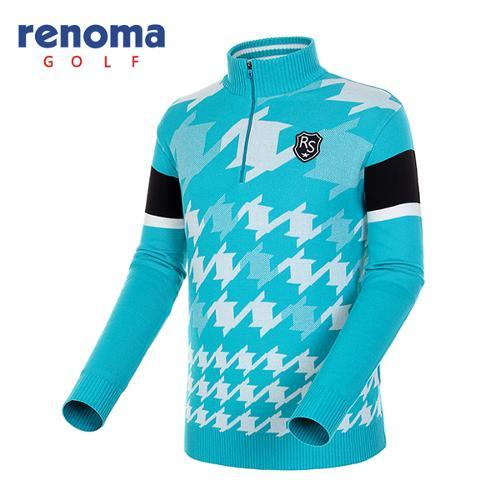[레노마골프]남성 옵티컬 패턴 반집업 스웨터 RAKP03541-MT