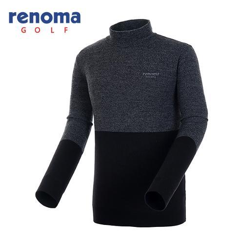 [레노마골프]남성 멜란지 하이넥 스웨터 RAKP27561-DG