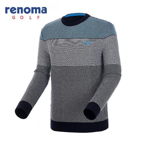 [레노마골프]남성 믹스얀 컬러블럭 스웨터 RAKP28561-NY
