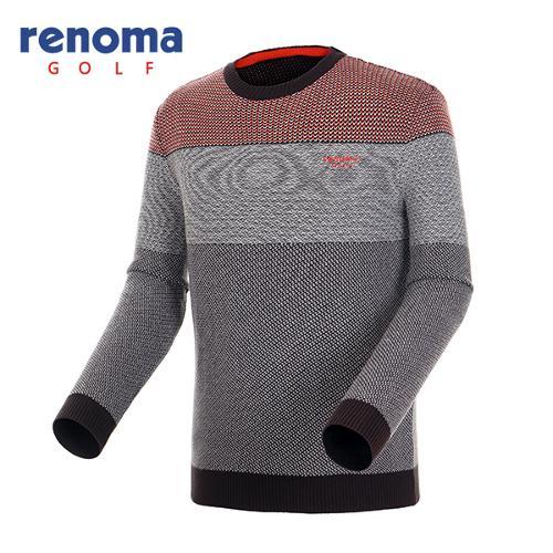 [레노마골프]남성 믹스얀 컬러블럭 스웨터 RAKP28561-BR