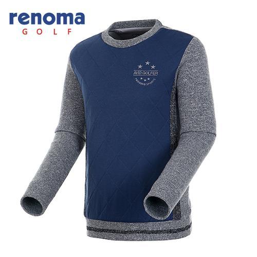 [레노마골프]남성 퀼팅 믹스 방풍 니트 스웨터 RMSRF4208-120