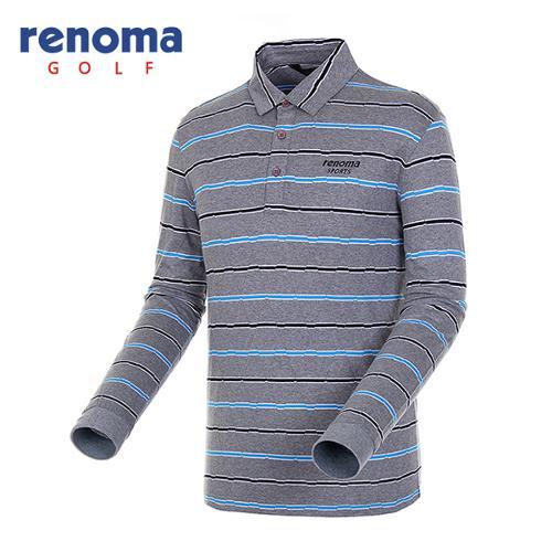 [레노마골프]남성 투톤 스트라이프 티셔츠 RATS16541-MG
