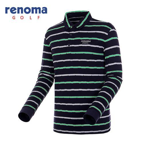 [레노마골프]남성 투톤 스트라이프 티셔츠 RATS16541-NY