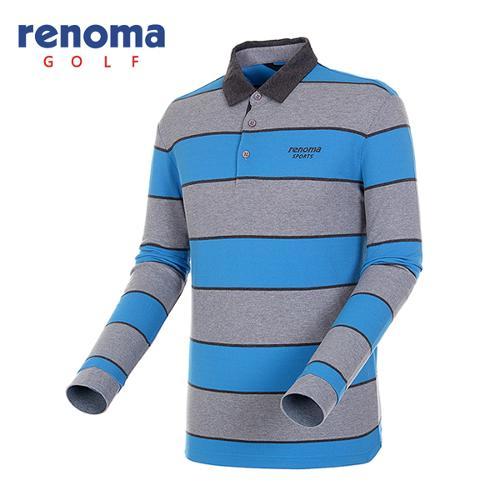 [레노마골프]남성 볼드 코튼 피케 티셔츠 RATS13541-BL