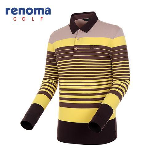 [레노마골프]남성 스트라이프 카라 배색 티셔츠 RATS15541-LY