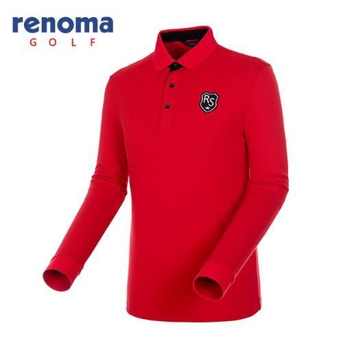 [레노마골프]남성 로고 와펜 피케 티셔츠 RATS02541-RD