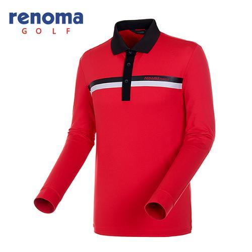 [레노마골프]남성 카라 배색 스트레치 티셔츠 RATS05541-RD