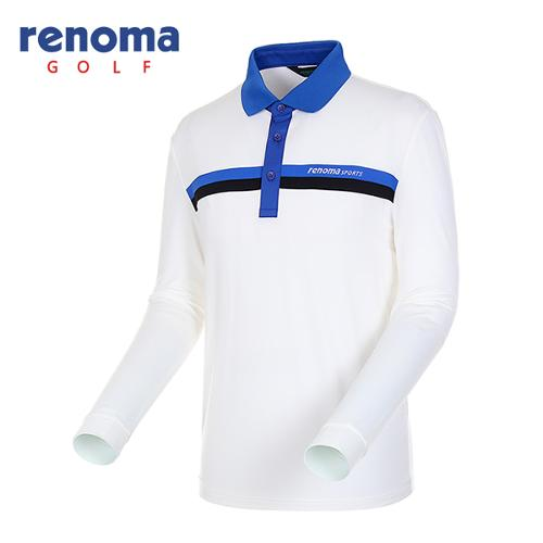[레노마골프]남성 카라 배색 스트레치 티셔츠 RATS05541-OW