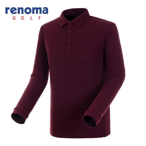 [레노마골프]남성 데님 패치 솔리드 티셔츠 RATSU1561-WI