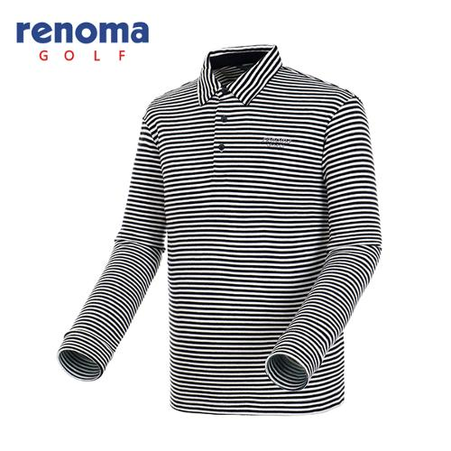 [레노마골프]남성 스트라이프 폴로넥 티셔츠 RATSU2561-BK