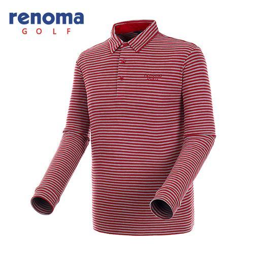 [레노마골프]남성 스트라이프 폴로넥 티셔츠 RATSU2561-RD