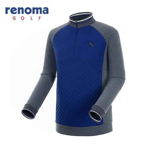 [레노마골프]남성 퀼팅 배색 반집업 티셔츠 RATS28561-RB