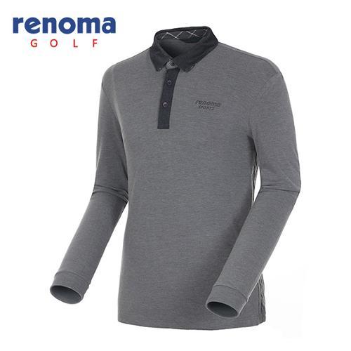 [레노마골프]남성 니트믹스 카라배색 티셔츠 RATS34561-MG
