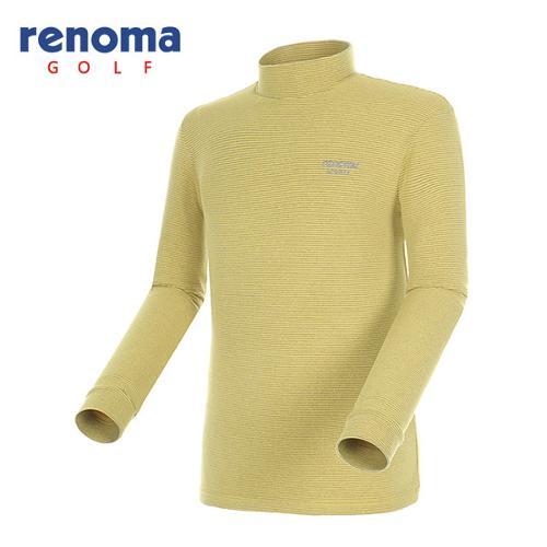 [레노마골프]남성 소프트 스트라이프 하이넥 티셔츠 RATS23561-YE