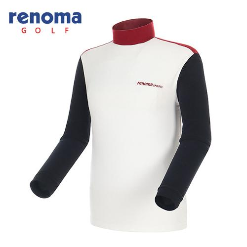 [레노마골프]남성 소프트 터치 컬러블록 티셔츠 RATS21561-OW