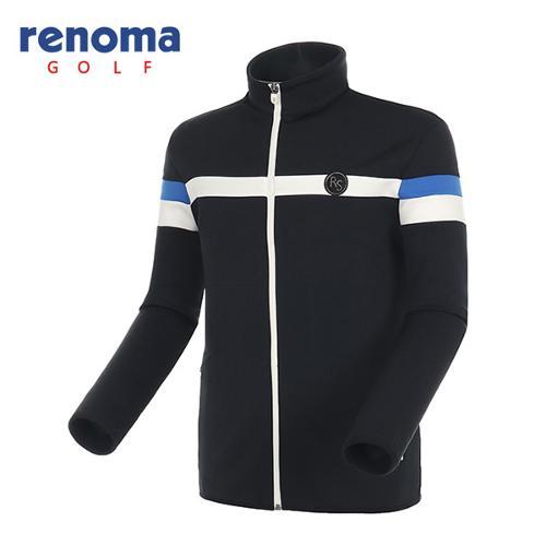 [레노마골프]남성 스트라이프 네오프렌 집업 티셔츠 RATS04541-BK
