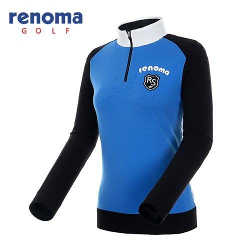 [레노마골프]여성 컬러 블록 반집업 스웨터 RAKP51541-BK