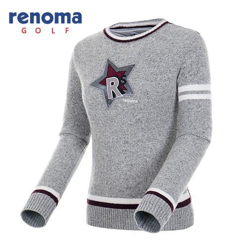 [레노마골프]여성 시퀸 별 와펜 믹스얀 스웨터 RWSRF8205-193