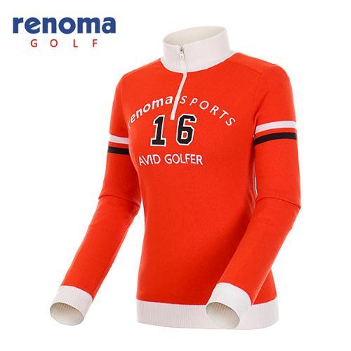 [레노마골프]여성 컬러 배색 반집업 방풍 스웨터 RWSHF8204-302