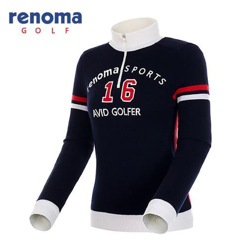 [레노마골프]여성 컬러 배색 반집업 방풍 스웨터 RWSHF8204-120