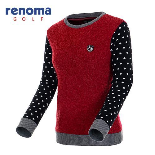 [레노마골프]여성 탈착 넥워머 세트 방풍 스웨터 RAKP73561-DR