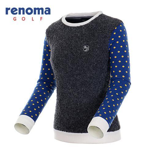 [레노마골프]여성 탈착 넥워머 세트 방풍 스웨터 RAKP73561-CG