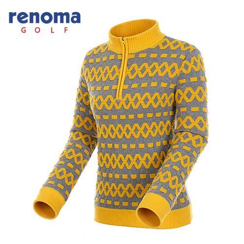 [레노마골프]여성 엠보 패턴 방풍 반집업 스웨터 RAKP72561-YE