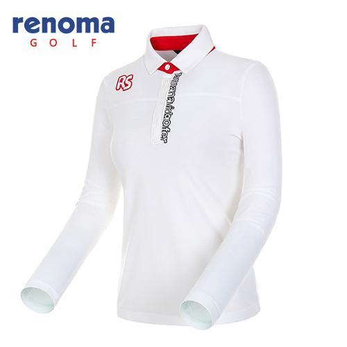 [레노마골프]여성 레터링 자수 피케 티셔츠 RWTYF7101-101