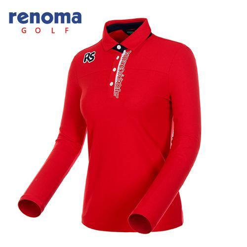 [레노마골프]여성 레터링 자수 피케 티셔츠 RWTYF7101-500