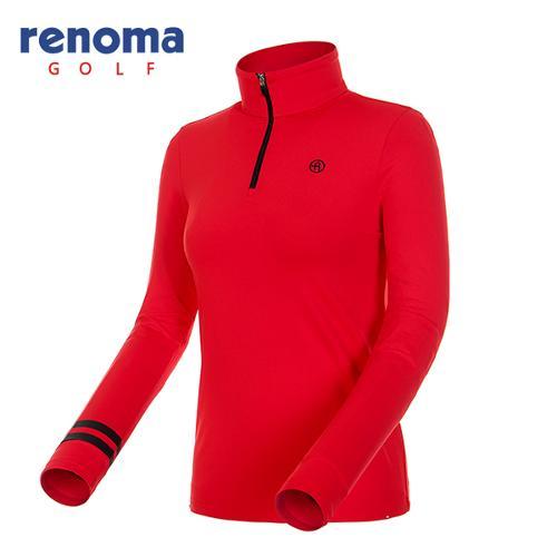 [레노마골프]여성 스트라이프 소매 반집업 티셔츠 RWTHF7112-500