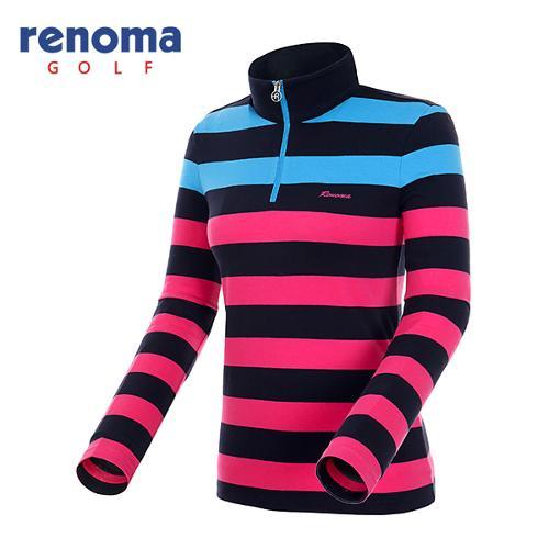 [레노마골프]여성 컬러 반집업 코튼 티셔츠 RATS69541-NY