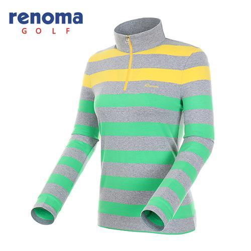 [레노마골프]여성 컬러 반집업 코튼 티셔츠 RATS69541-MG
