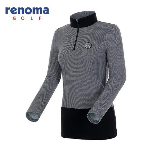 [레노마골프]여성 컬러 블록 반집업 티셔츠 RATS59541-MG