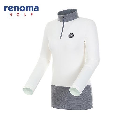 [레노마골프]여성 컬러 블록 반집업 티셔츠 RATS59541-OW