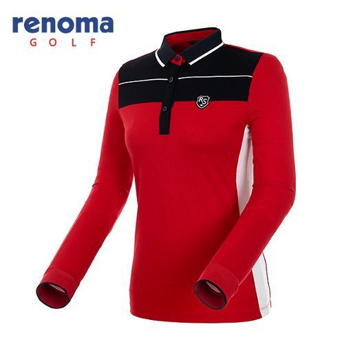 [레노마골프]여성 라인 포인트 폴로넥 티셔츠 RATS53541-RD