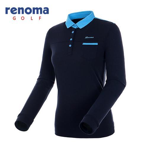 [레노마골프]여성 카라 배색 미니 포켓 티셔츠 RATS62541-NY