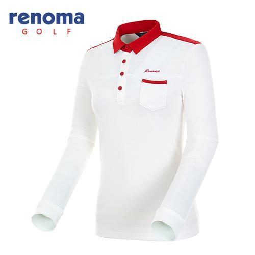 [레노마골프]여성 카라 배색 미니 포켓 티셔츠 RATS62541-OW